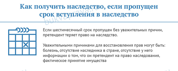 Kak poluchit' nasledstvo, esli propushchen srok obrashcheniya v notariat
