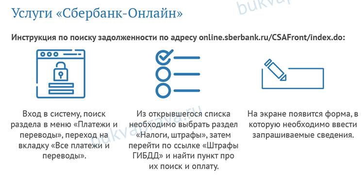 Kak-uznat'-shtraf-po-nomeru-postanovleniya-cherez sberbank onlajn