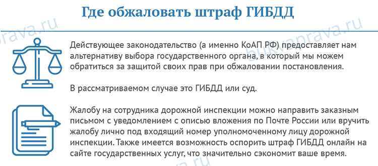 Заявление на обжалование штрафа ГИБДД - образец