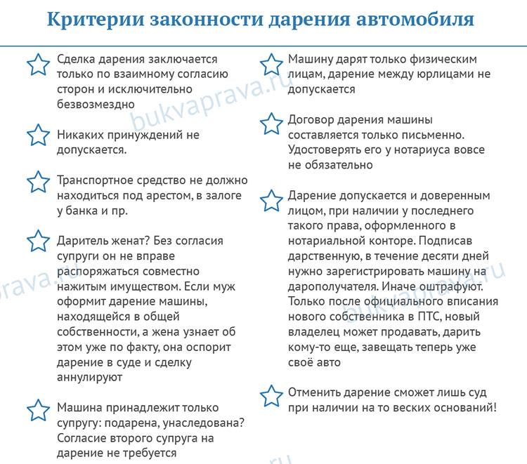 kriterii-zakonnosti-dareniya-avtomobilya